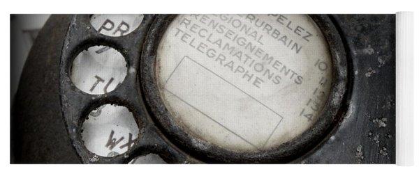 Vintage Telephone Yoga Mat