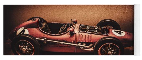 Vintage Toy Model Racing Car Yoga Mat