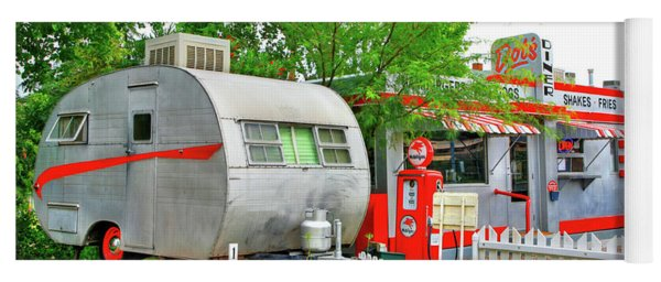 Vintage Trailer And Diner In Bisbee Arizona Yoga Mat