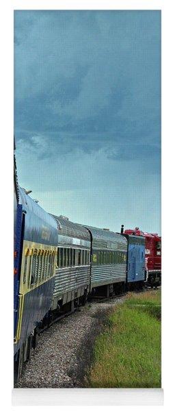 Vintage Train Yoga Mat