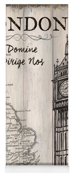 Vintage Travel Poster London Yoga Mat