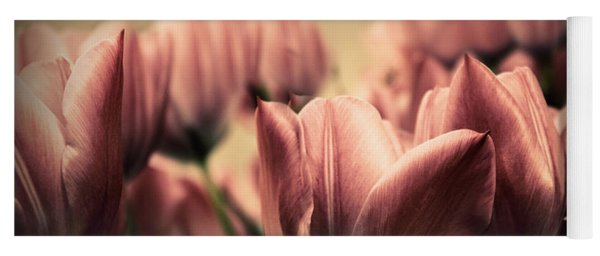 Vintage Tulips Yoga Mat