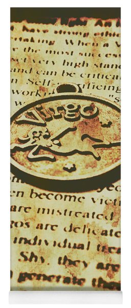 Vintage Virgo Token Scroll Yoga Mat