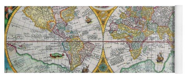 Vintage World Map Yoga Mat