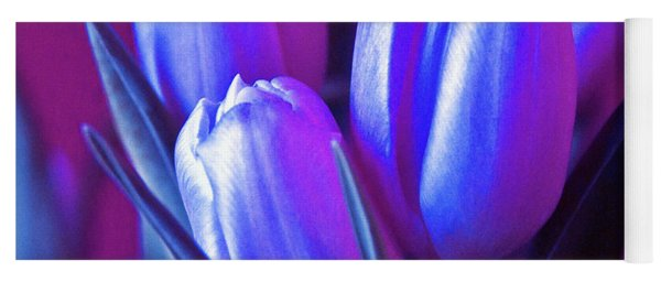 Violet Poetry Of Spring Yoga Mat