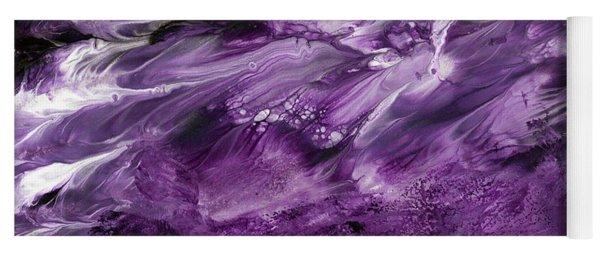 Violet Rhapsody- Art By Linda Woods Yoga Mat