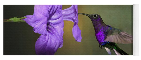 Violet Sabrewing Hummingbird Yoga Mat