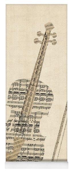 Violin Old Sheet Music Yoga Mat