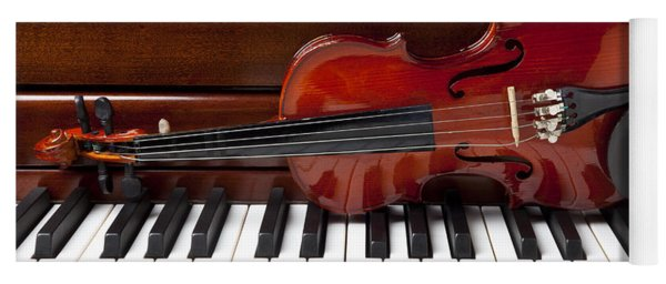 Violin On Piano Yoga Mat