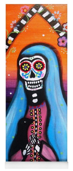 Virgen Guadalupe Muertos Yoga Mat