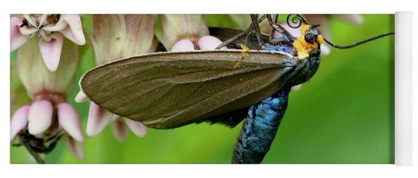 Virginia Ctenucha Moth Yoga Mat