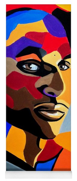 Visionaire, Abstract Male Face Portrait Painting - Illusion Abstract Artwork - Chromatic Yoga Mat