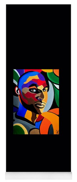 Visionaire - Abstract Male Face Painting - Abstract Art - Print Yoga Mat