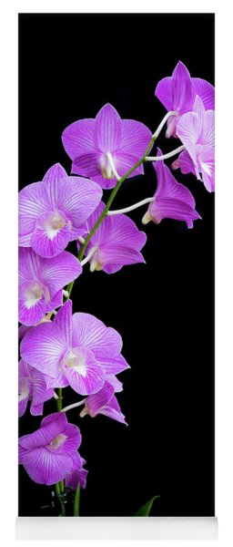 Vivid Purple Orchids Yoga Mat