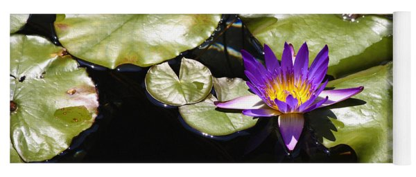 Vivid Purple Water Lilly Yoga Mat