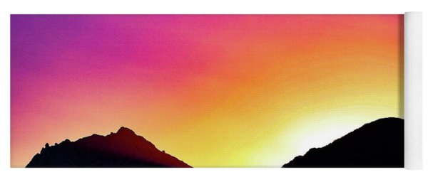 Volcanic Sunrise Yoga Mat