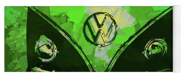 Volkswagen Bus Pop Green Yoga Mat