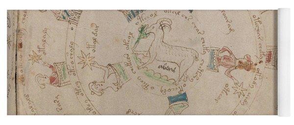 Voynich Manuscript Astro Aries Yoga Mat