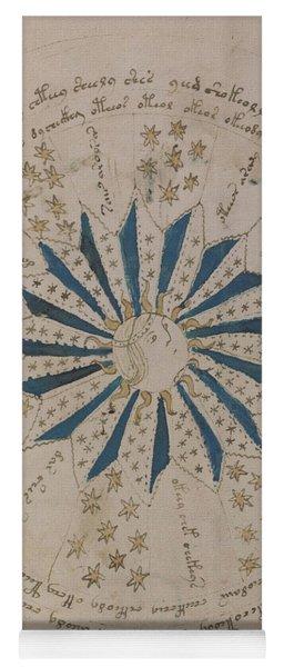 Voynich Manuscript Astro Rosette 1 Yoga Mat