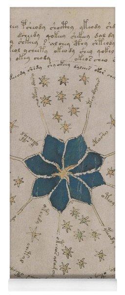 Voynich Manuscript Astro Rosette 2 Yoga Mat
