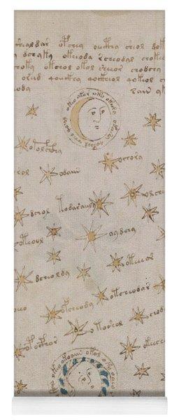 Voynich Manuscript Astro Sun And Moon 1 Yoga Mat