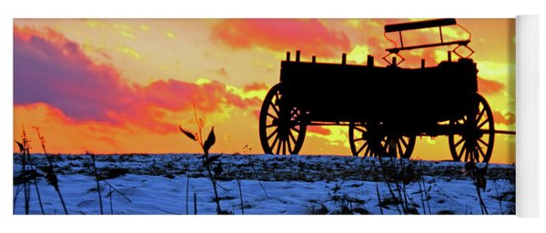 Wagon Hill At Sunset Yoga Mat