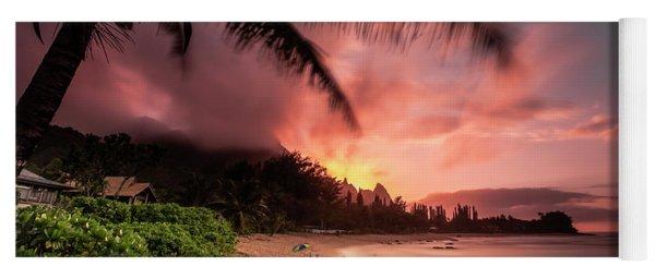 Wainiha Kauai Hawaii Bali Hai Sunset Yoga Mat