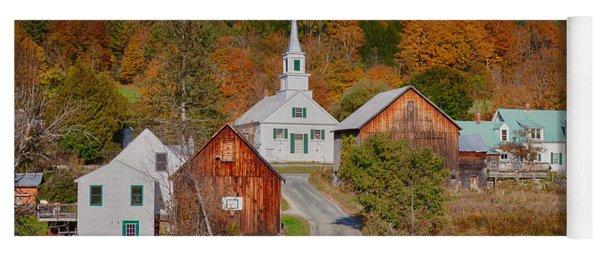 Waits River Church In Autumn Yoga Mat