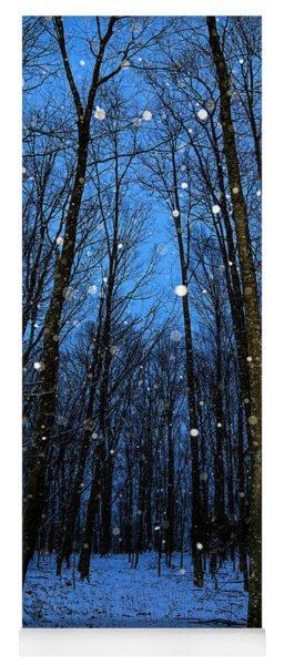 Walk In The Snowy Woods Yoga Mat