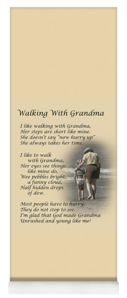 Walking With Grandma Yoga Mat
