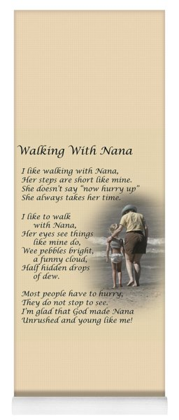 Walking With Nana Yoga Mat