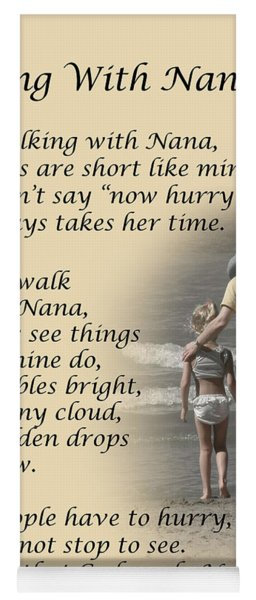 Walking With Nana Yoga Mat