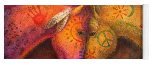 War Horse And Peace Horse Yoga Mat
