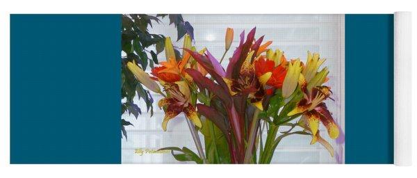 Warm Colored Flowers Yoga Mat