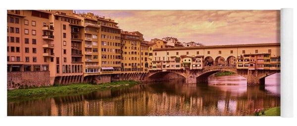 Warm Colors Surround Ponte Vecchio Yoga Mat