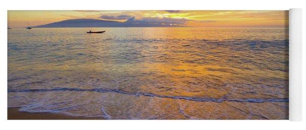 Warm Ka'anapali Sunset Yoga Mat