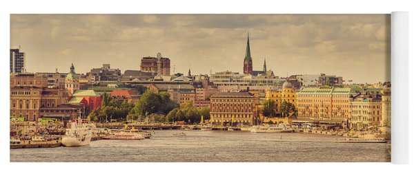 Warm Stockholm View Yoga Mat