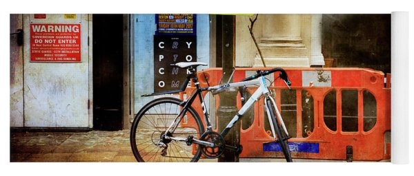 Warning Bicycle Suspended Yoga Mat