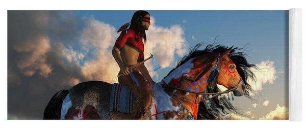 Warrior And War Horse Yoga Mat