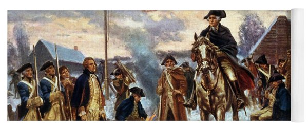 Washington At Valley Forge Yoga Mat