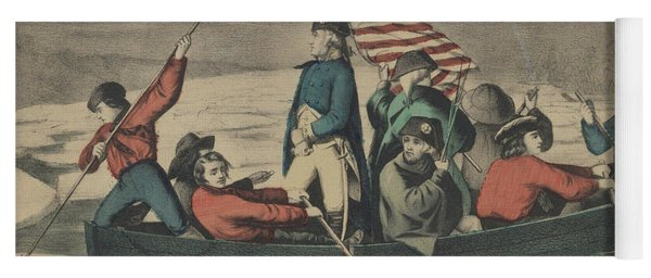 Washington Crossing The Delaware On The Evening Previous To The Battle Of Trenton Yoga Mat