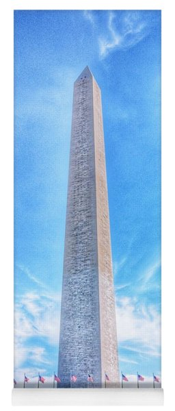 Yoga Mat featuring the photograph Washington D.c. Monument Landscape by Marianna Mills