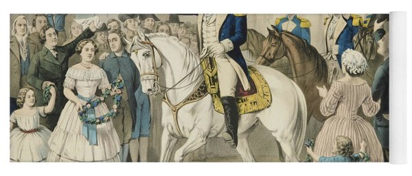Washington Entering New York On The Evacuation Of The City By The British On Nov 25th 1783 Yoga Mat