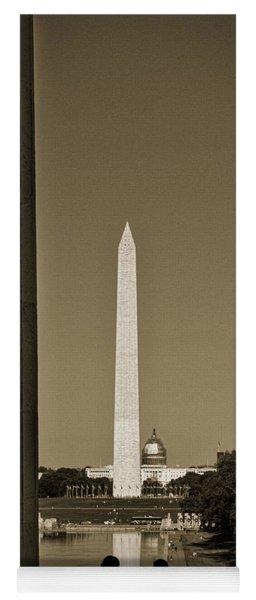 Washington Monument And Capitol #4 Yoga Mat
