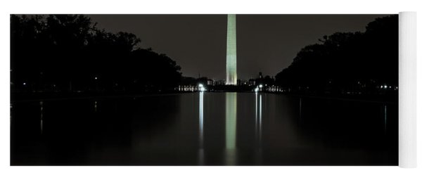 Yoga Mat featuring the photograph Washington Monument At Night by Ed Clark