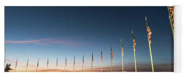 Washington Monument Flags Yoga Mat
