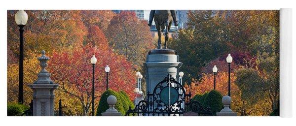 Washington Statue In Autumn Yoga Mat