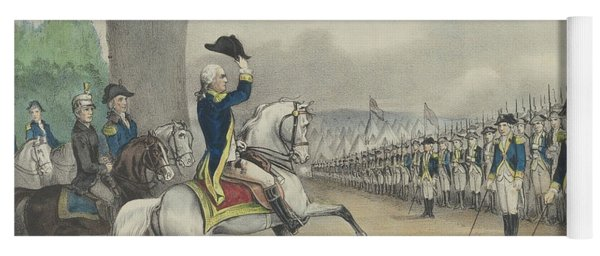 Washington Taking Command Of The American Army At Cambridge, Massachusetts On 3 July 1775 Yoga Mat
