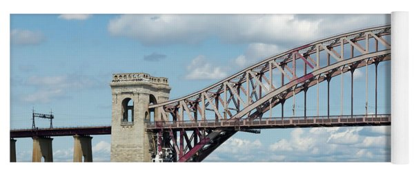 Hell Gate Bridge And Barge Yoga Mat