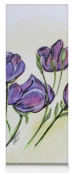 Water Color Pencil Exercise Yoga Mat